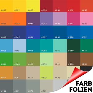 Farbfolie Farbumwandlung