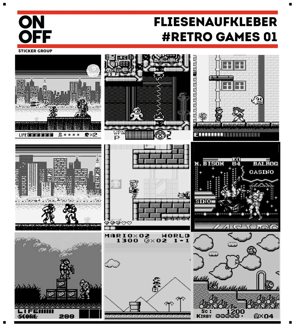Fliesenaufkleber #retro games 01-10