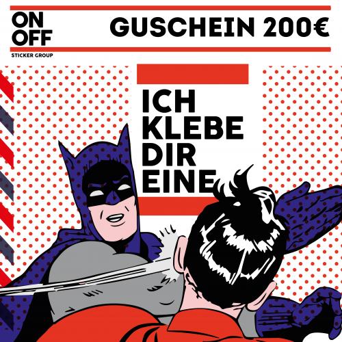 Verklebe Gutschein 200€