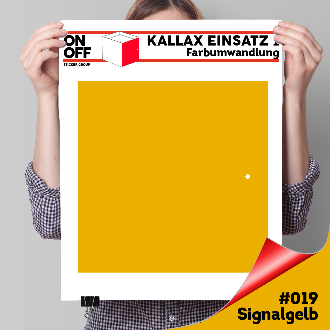 Kallax Einsatz 1 TÜR (631) #019 Signalgelb