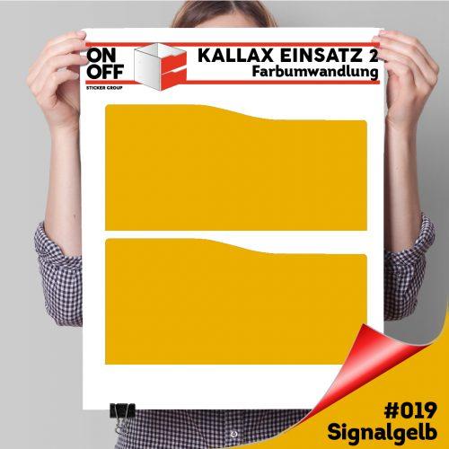 Kallax Einsatz 2 SCHUBLADEN mit WELLE (631) #019 Signalgelb