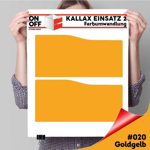 Kallax Einsatz 2 SCHUBLADEN mit WELLE (631) #020 Goldgelb