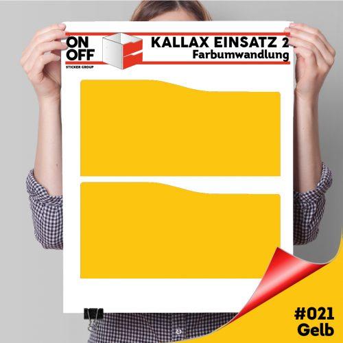 Kallax Einsatz 2 SCHUBLADEN mit WELLE (631) #021 Gelb