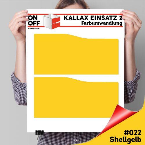 Kallax Einsatz 2 SCHUBLADEN mit WELLE (631) #022 Shellgelb