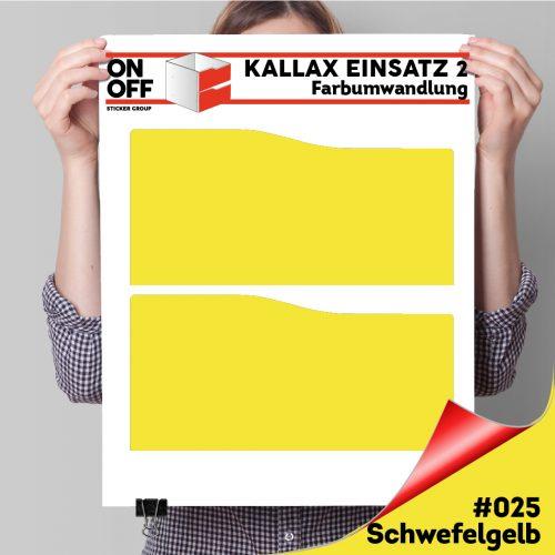 Kallax Einsatz 2 SCHUBLADEN mit WELLE (631) #025 Schwefelgelb