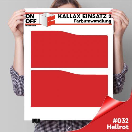 Kallax Einsatz 2 SCHUBLADEN mit WELLE (631) #032 Hellrot