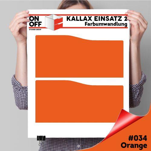 Kallax Einsatz 2 SCHUBLADEN mit WELLE (631) #034 Orange
