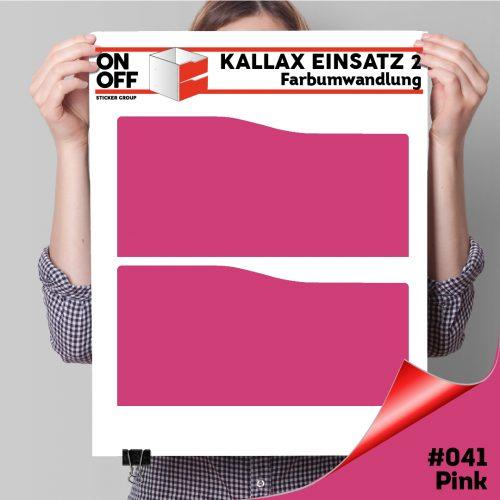 Kallax Einsatz 2 SCHUBLADEN mit WELLE (631) #041 Pink