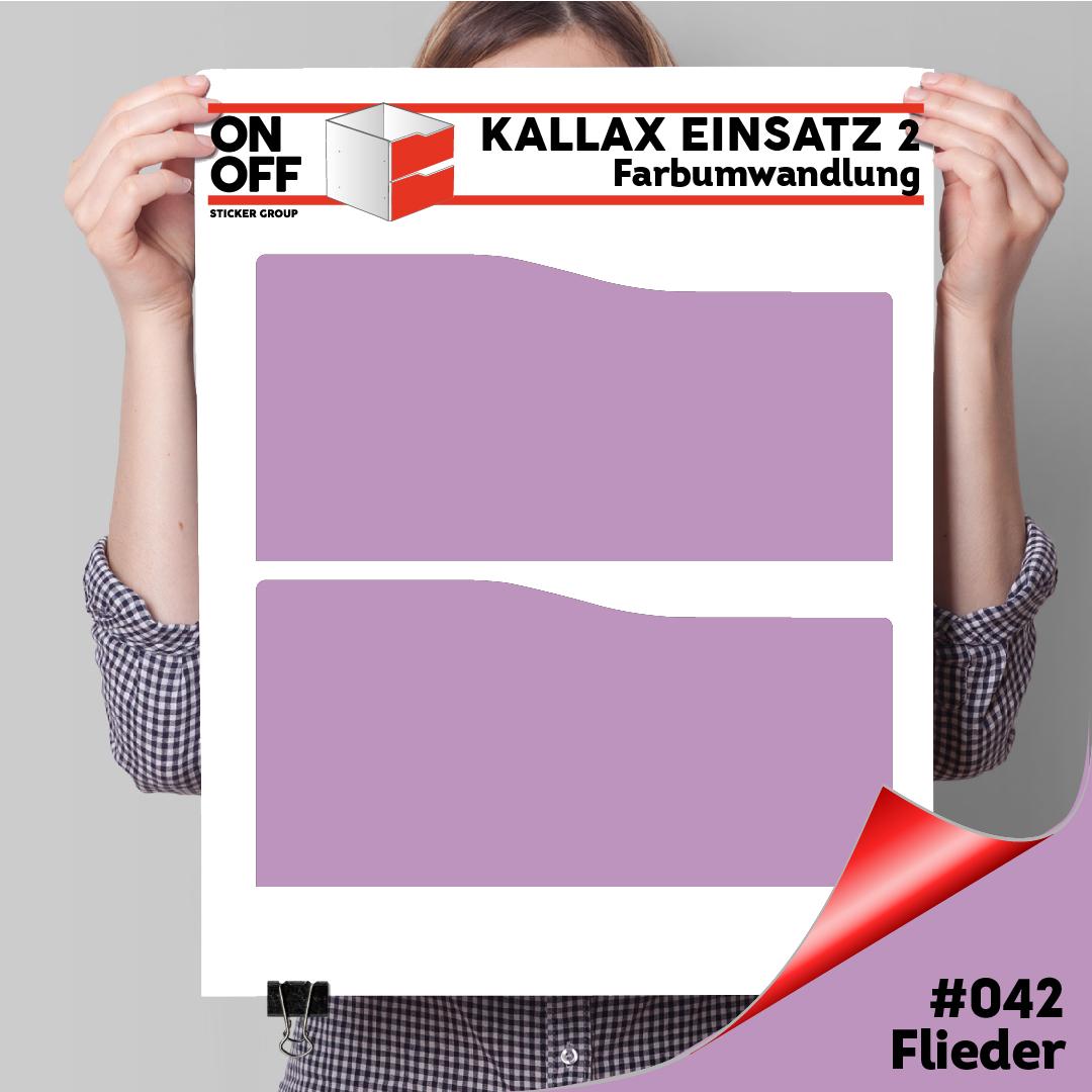 Kallax Einsatz 2 SCHUBLADEN mit WELLE (631) #042 Flieder