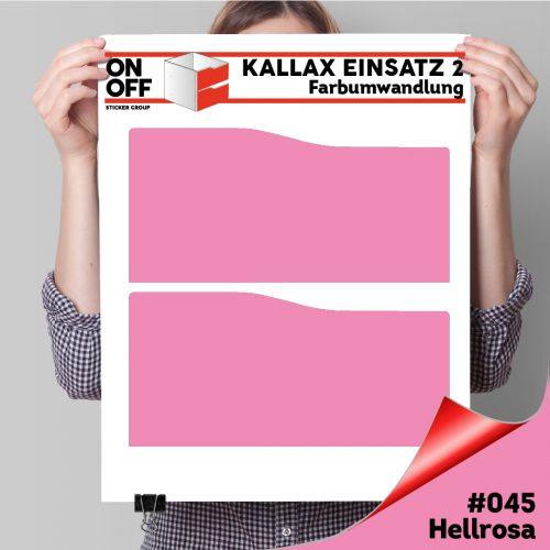 Kallax Einsatz 2 SCHUBLADEN mit WELLE (631) #045 Hellrosa
