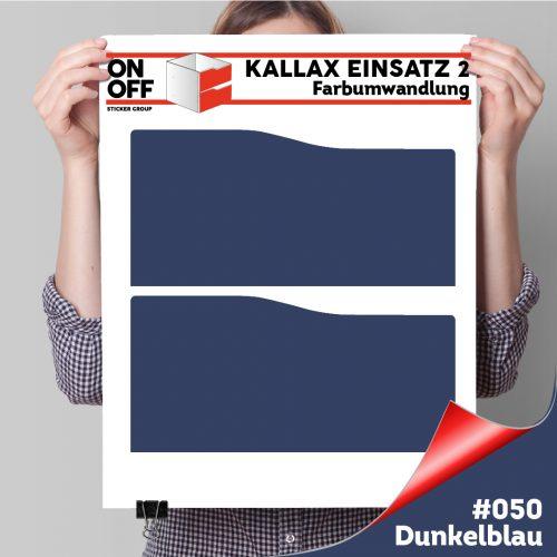 Kallax Einsatz 2 SCHUBLADEN mit WELLE (631) #050 Dunkelblau