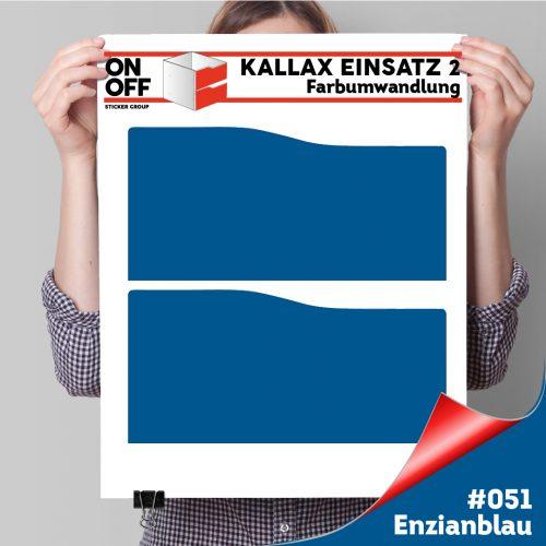Kallax Einsatz 2 SCHUBLADEN mit WELLE (631) #051 Enzianblau