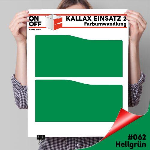 Kallax Einsatz 2 SCHUBLADEN mit WELLE (631) #062 Hellgrün