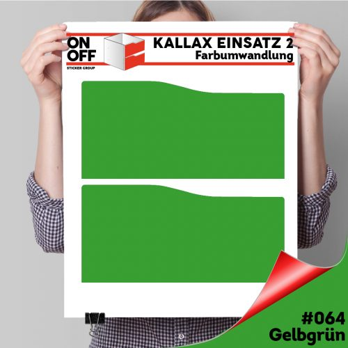 Kallax Einsatz 2 SCHUBLADEN mit WELLE (631) #064 Gelbgrün