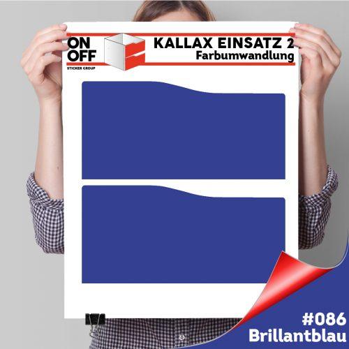 Kallax Einsatz 2 SCHUBLADEN mit WELLE (631) #086 Brillantblau