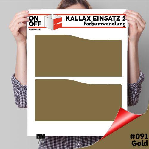 Kallax Einsatz 2 SCHUBLADEN mit WELLE (631) #091 Gold