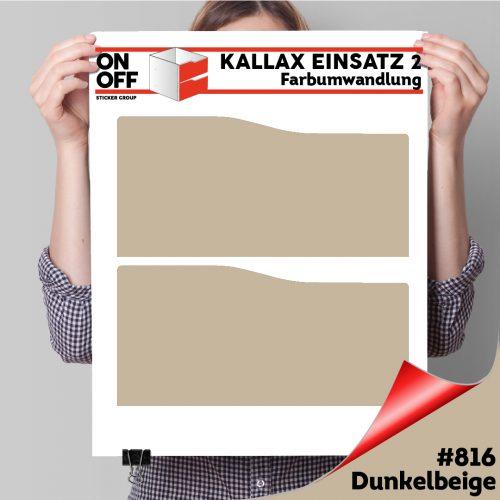 Kallax Einsatz 2 SCHUBLADEN mit WELLE (631) #816 Dunkelbeige