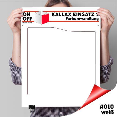 Kallax Einsatz 2 (Welle) #010 weiß