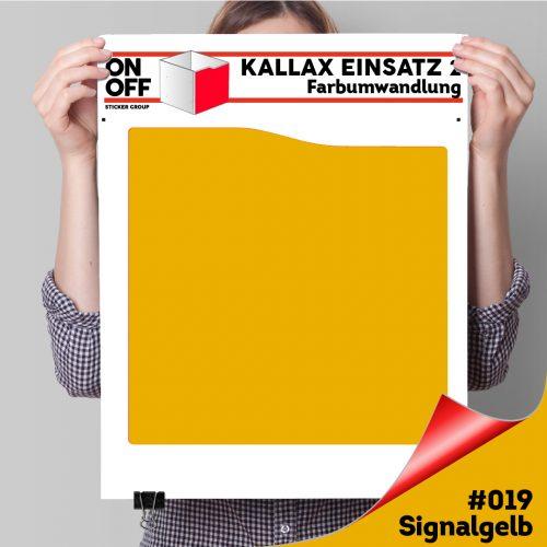 Kallax Einsatz 2 (Welle) #019 Signalgelb