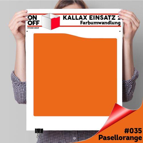 Kallax Einsatz 2 (Welle) #035 Pastllorange