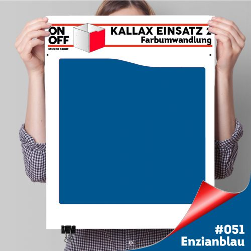 Kallax Einsatz 2 (Welle) #051 Enzianblau