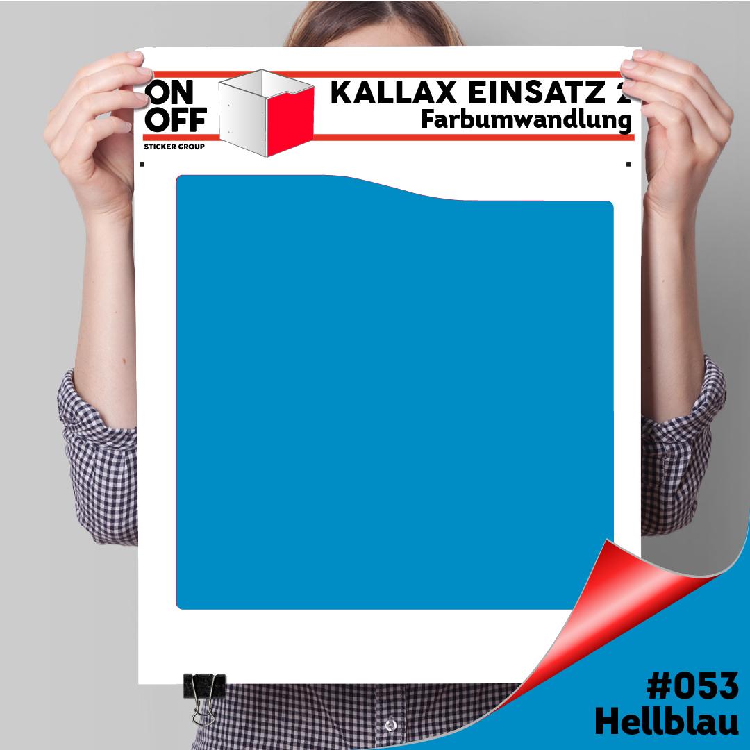 Kallax Einsatz 2 (Welle) #053 Hellblau