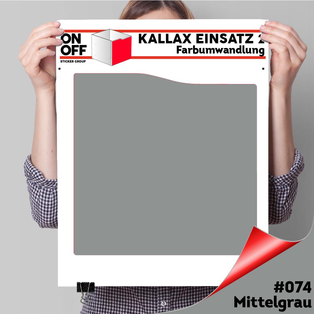 Kallax Einsatz 2 (Welle) #074 Mittelgrau