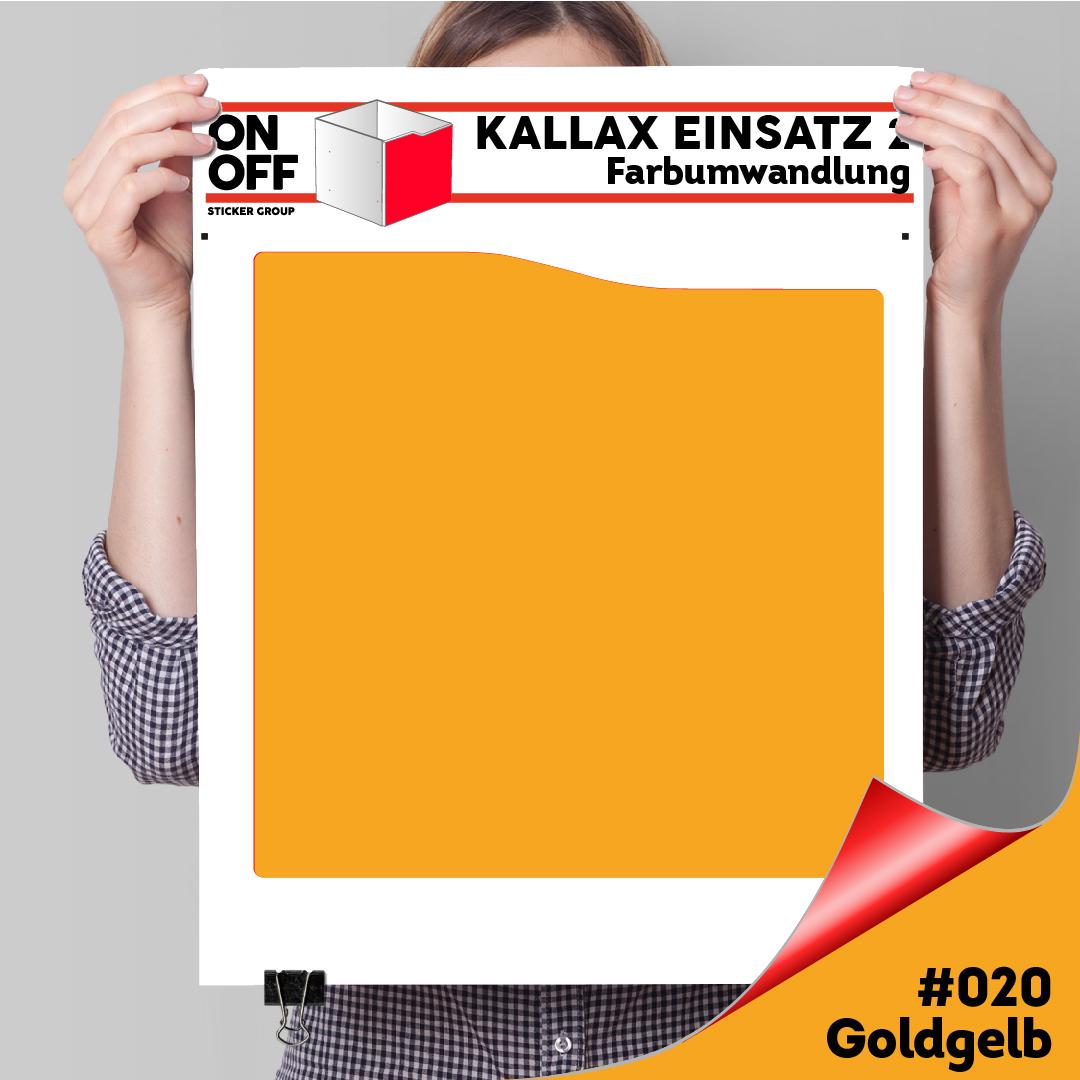Kallax Einsatz 2 (Welle) (631) #020 Goldgelb