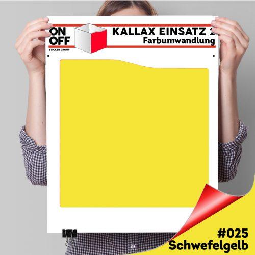 Kallax Einsatz 2 (Welle) (631) #025 Schwefelgelb
