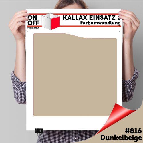 Kallax Einsatz 2 (Welle) #816 Dunkelbeige