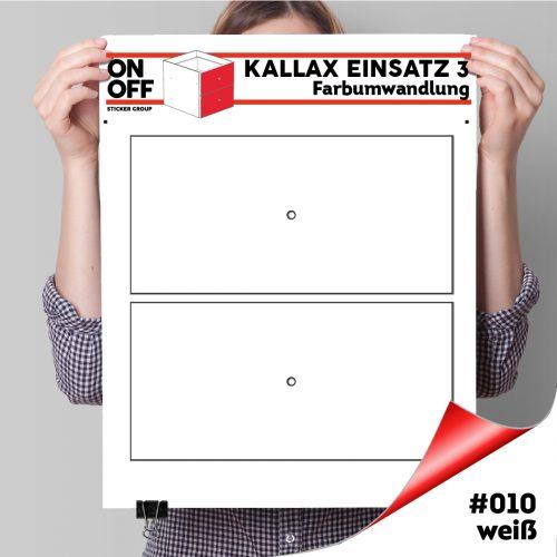 Kallax Einsatz 3 (2 Schubladen) #010 Weiß