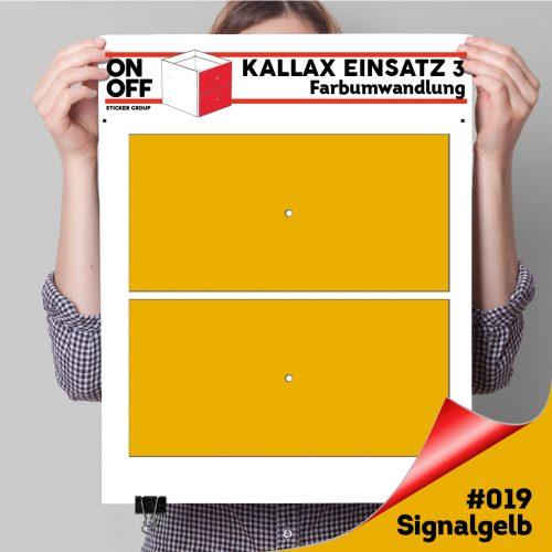 Kallax Einsatz 3 (2 Schubladen) #019 signalgelb