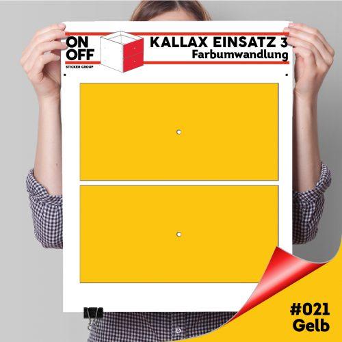 Kallax Einsatz 3 (2 Schubladen) #021 Gelb