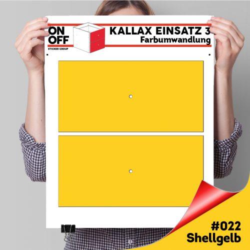 Kallax Einsatz 3 (2 Schubladen) #022 Shellgelb