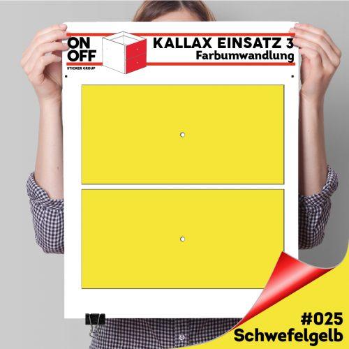 Kallax Einsatz 3 (2 Schubladen) #025 Schwefelgelb
