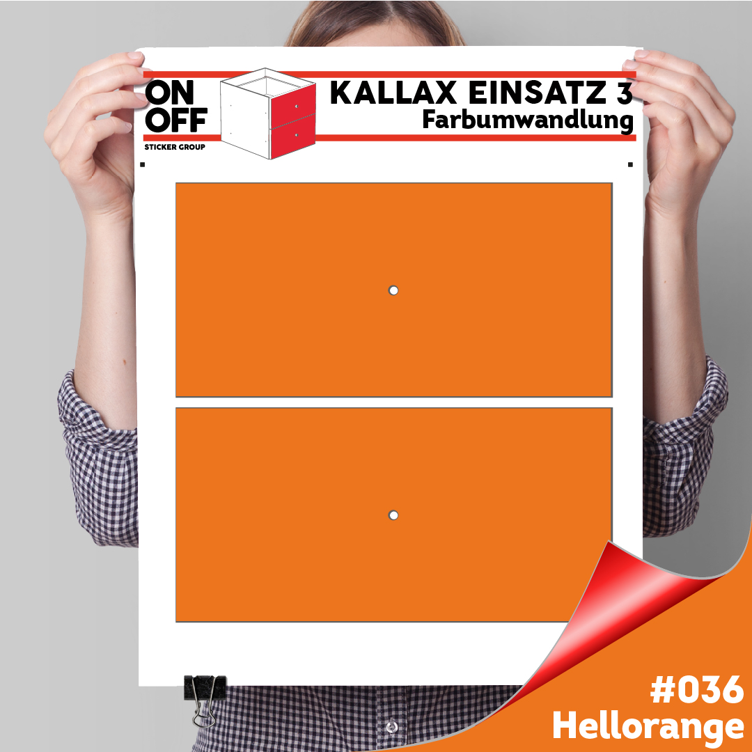 Kallax Einsatz 3 (2 Schubladen) #036
