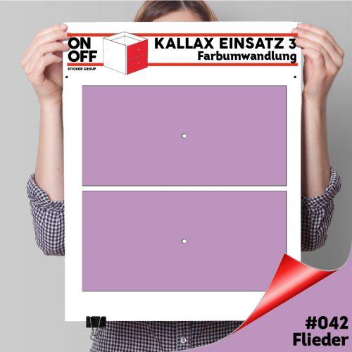 Kallax Einsatz 3 (2 Schubladen) #042