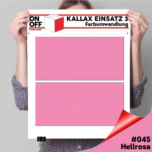 Kallax Einsatz 3 (2 Schubladen) #045 Hellrosa