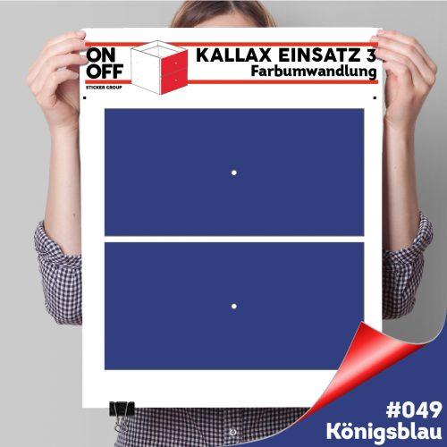 Kallax Einsatz 3 (2 Schubladen) #049 Königsblau