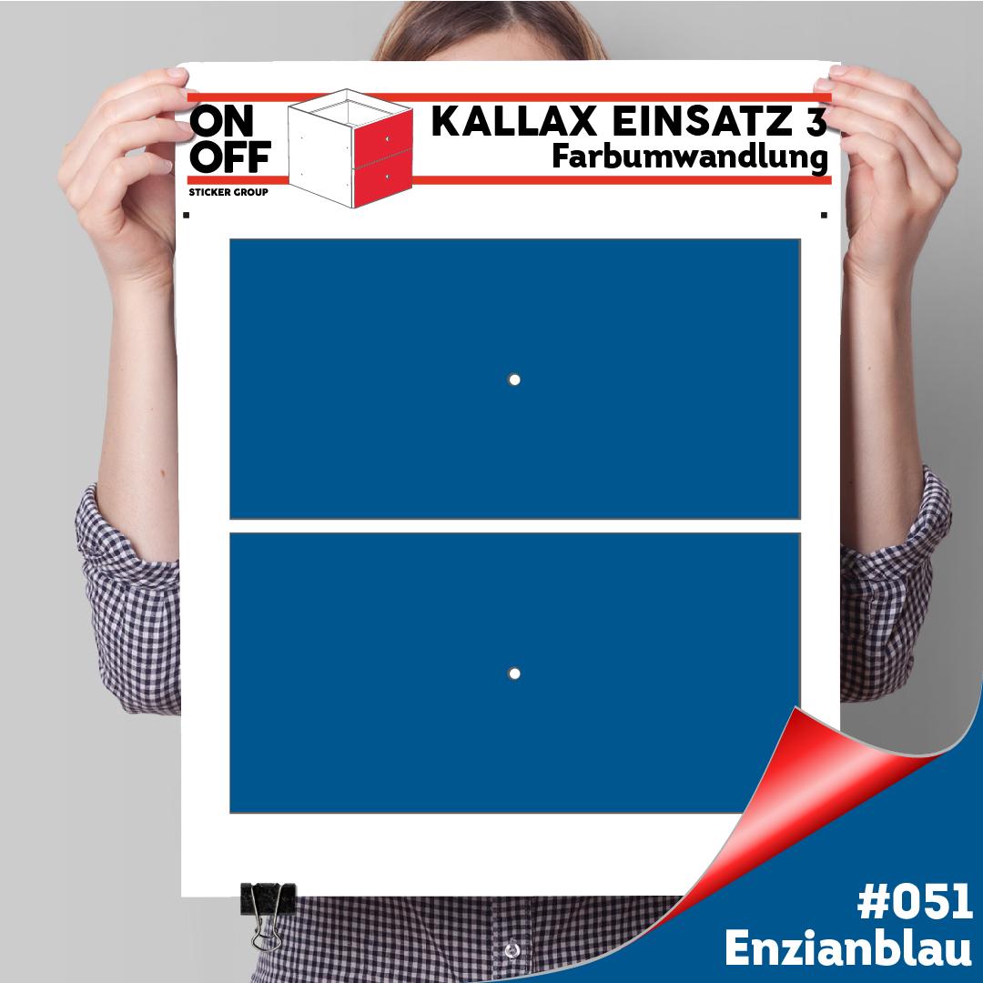 Kallax Einsatz 3 (2 Schubladen) #051 Enzianblau