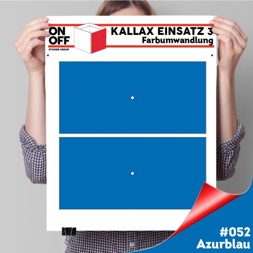 Kallax Einsatz 3 (2 Schubladen) #052 Azurblau