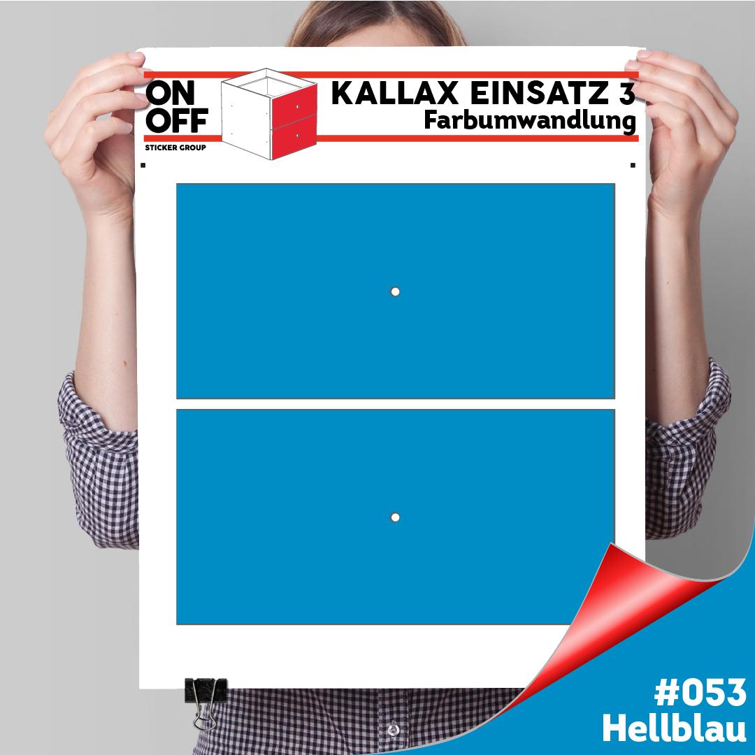 Kallax Einsatz 3 (2 Schubladen) #053 Hellblau
