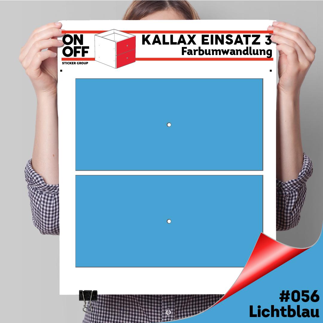 Kallax Einsatz 3 (2 Schubladen) #056 Lichtblau