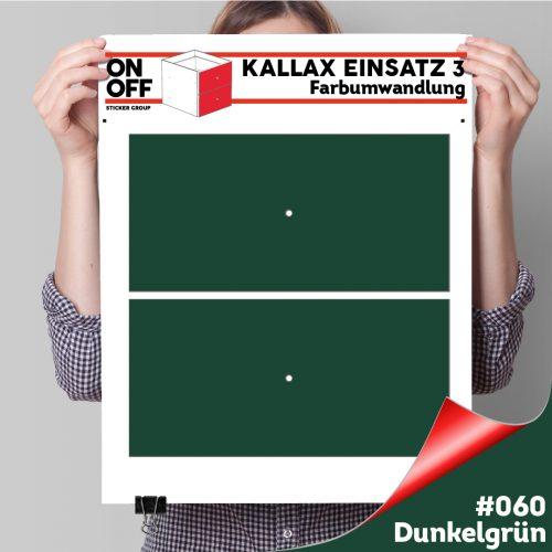 Kallax Einsatz 3 (2 Schubladen) #060 Dunkelgrün