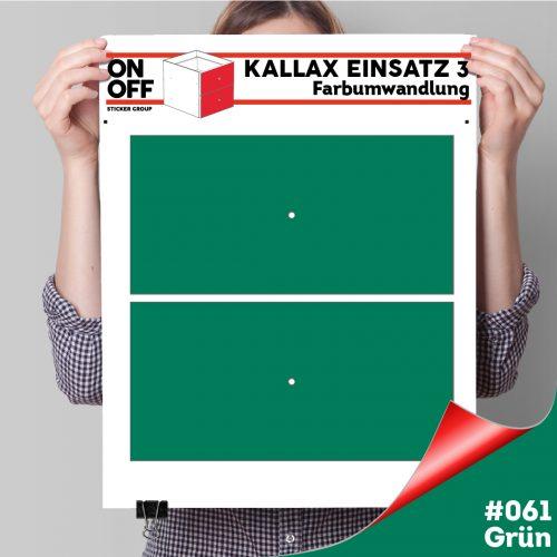 Kallax Einsatz 3 (2 Schubladen) #061 Grün