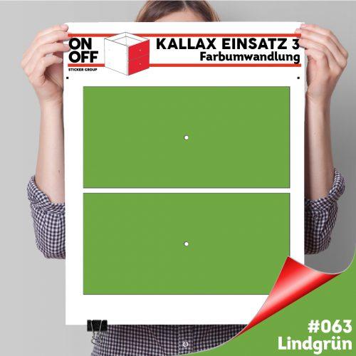 Kallax Einsatz 3 (2 Schubladen) #063 Lindgrün