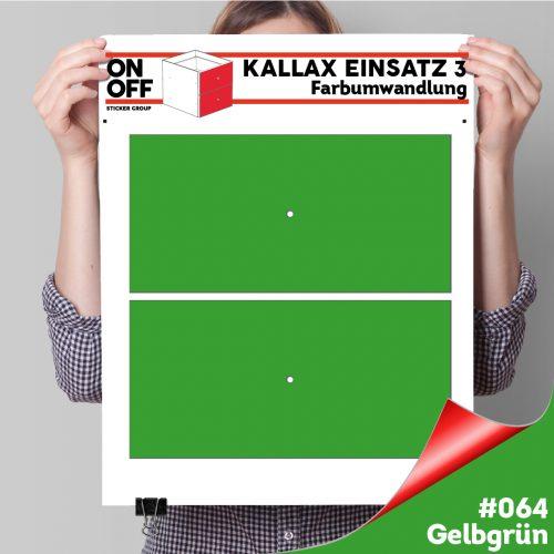 Kallax Einsatz 3 (2 Schubladen) #064 Gelbgrün