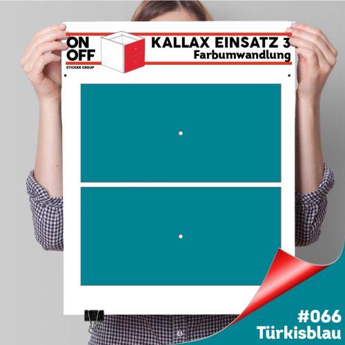Kallax Einsatz 3 (2 Schubladen) #066 Türkisblau
