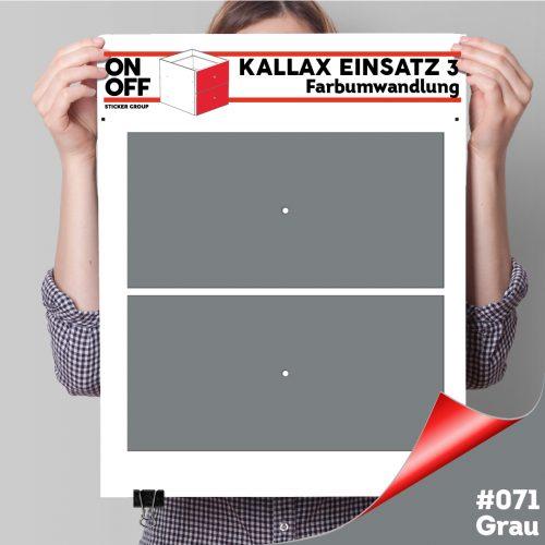 Kallax Einsatz 3 (2 Schubladen) #071 Grau