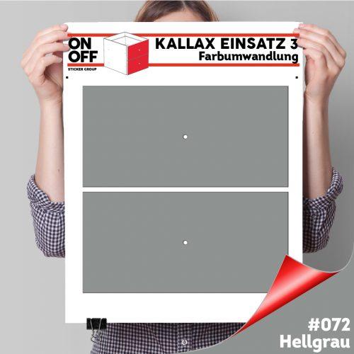 Kallax Einsatz 3 (2 Schubladen) #072 Hellgrau